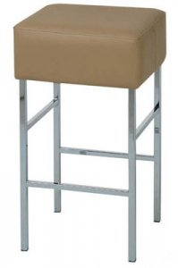 CUBE  Stool FRAME FINISHES AVAILABLE: Chrome Powdercoat Brushed Chrome   SIZE: 400W x 400D 650 or 750H   5 Year Warranty