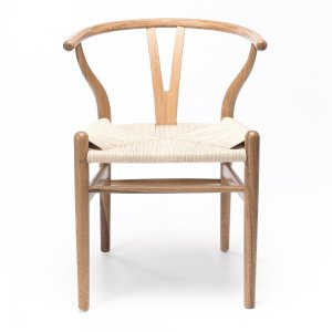 WISHBONE  Chair Natural Oak Natural Rope Seat  Style Scandinavian  Dimension W54 D54 H78 SH48cm  Timber White Oak  Construction Solid Oak frame with a durable semi-gloss finish, rope cord seat and stoppers on feet.